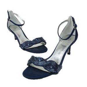Adrianna Papell Aerin Sequin Blue Sandals